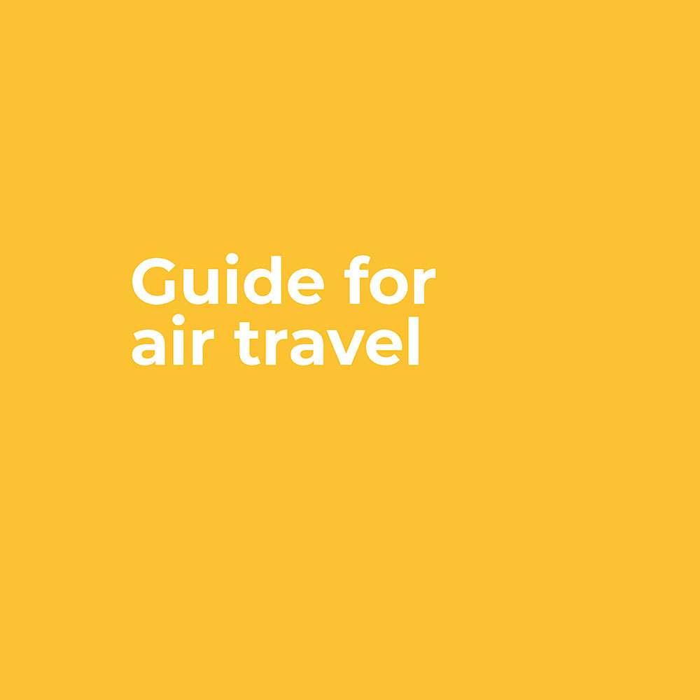 Guide for air travel