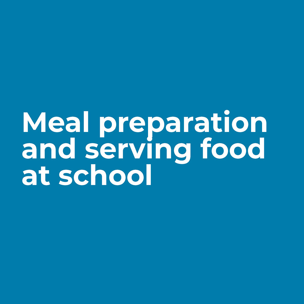 meal preparation and serving
