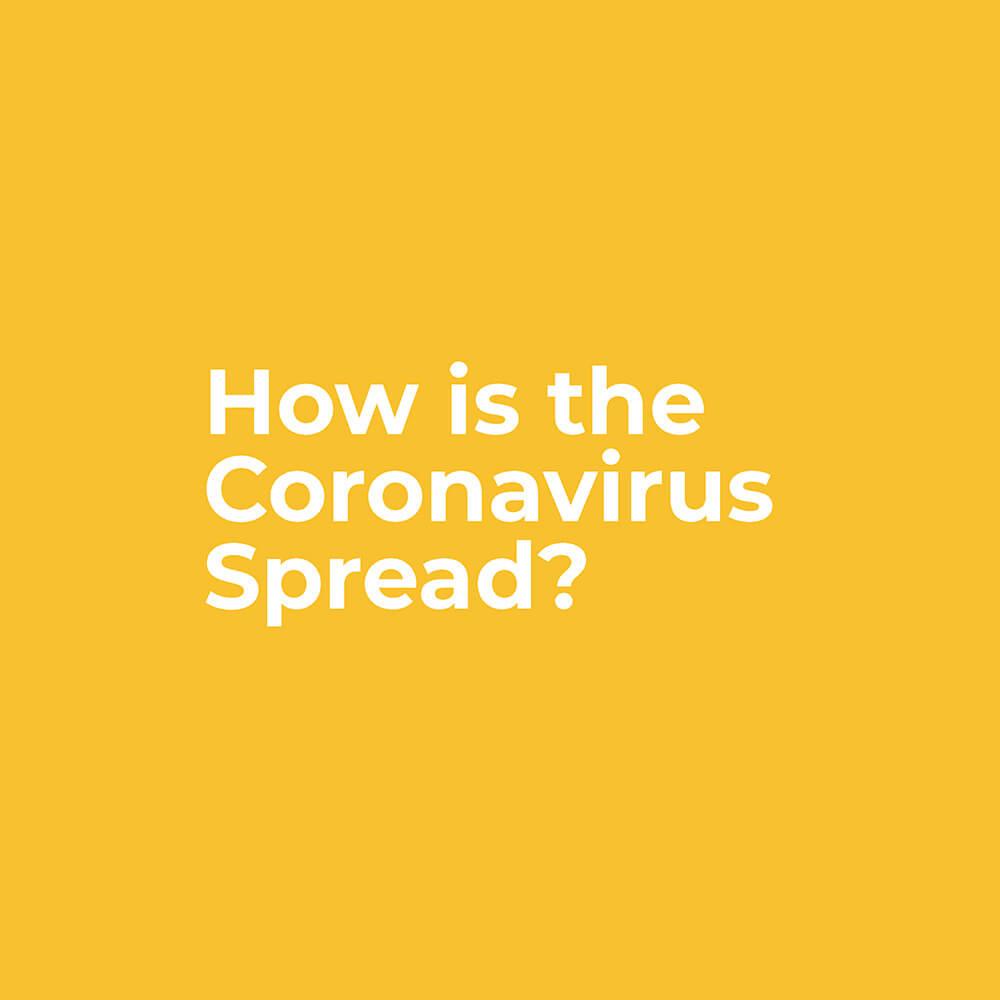 How is the Coronavirus spread?