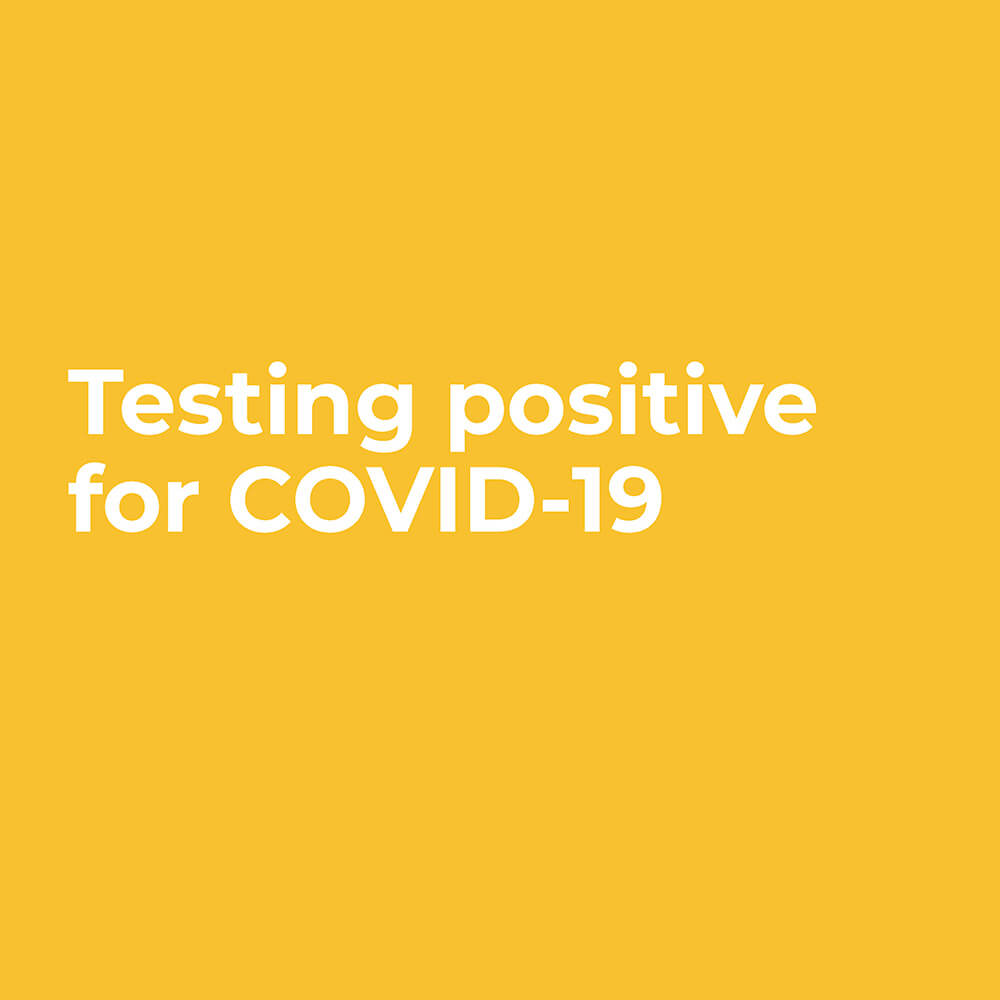 Testing positive for COVID-19