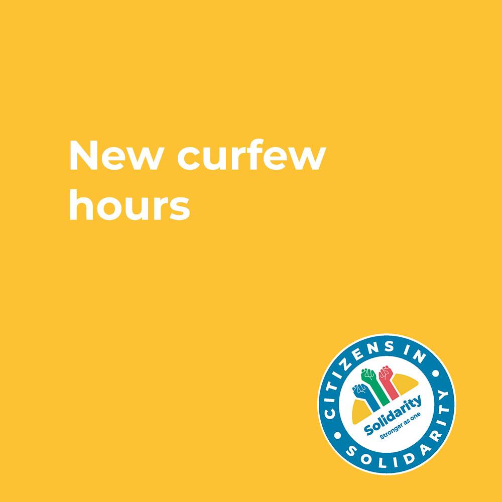 New curfew hours